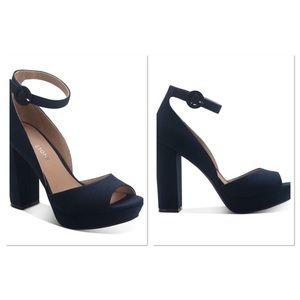 Block-Heel Platform Sandals